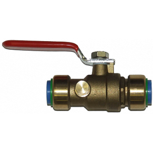 Push Connect Ball Valve with Drainer